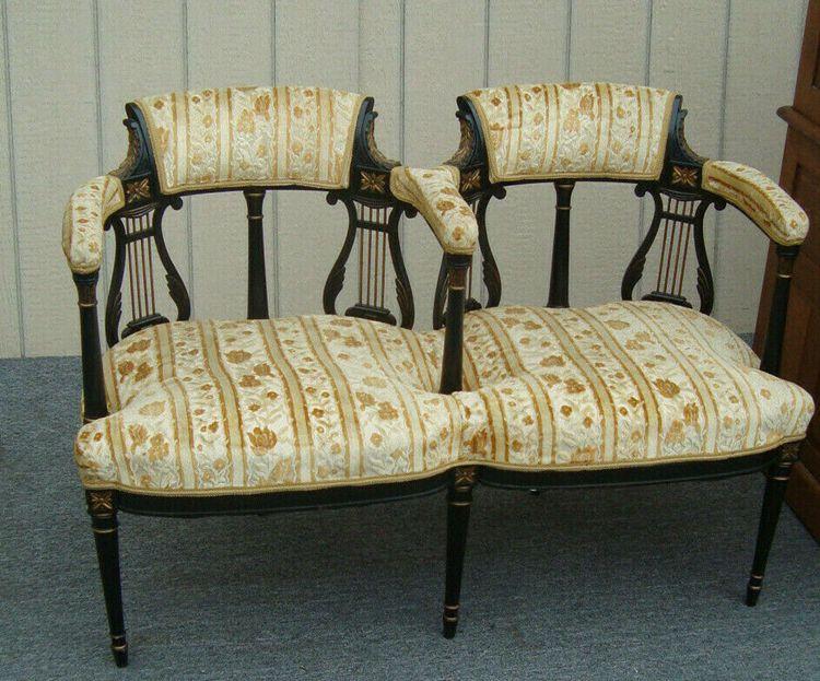 Antique Victorian Settee Loveseat Chair