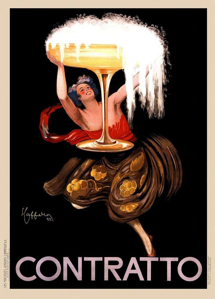 Antique Vintage Alcohol Poster