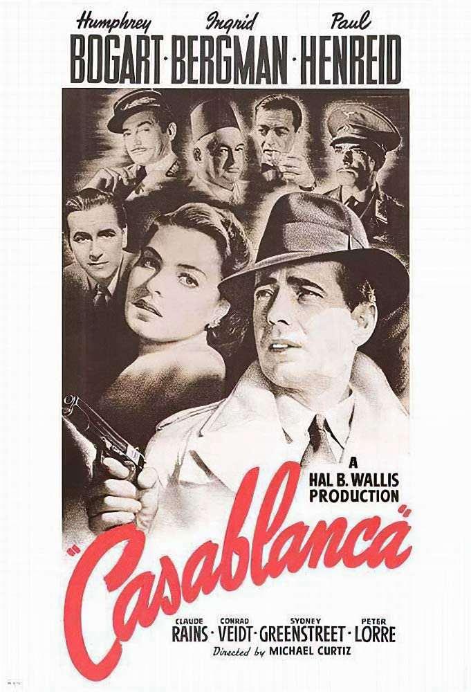 Casablanca Vintage Poster