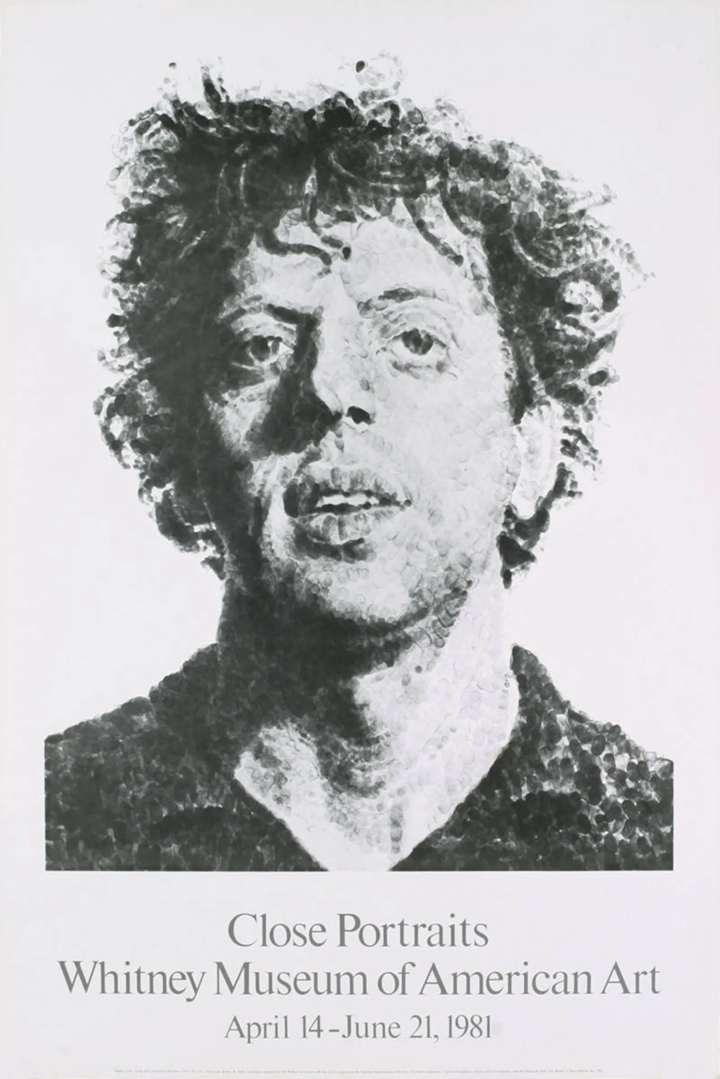 Chuck Close - 1981 Poster