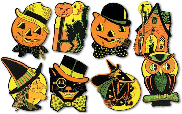Classic Halloween Paper Cutouts