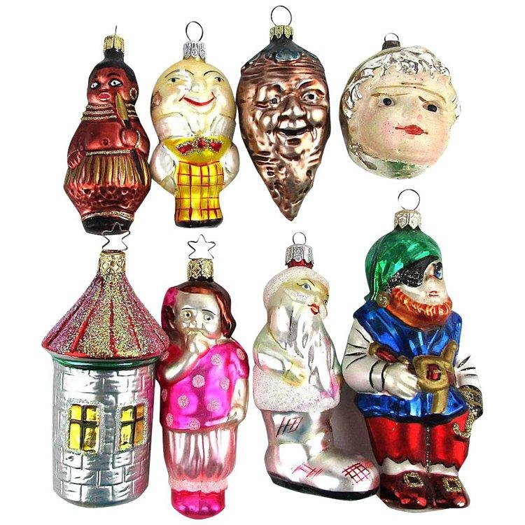 Figural Glass Ornaments