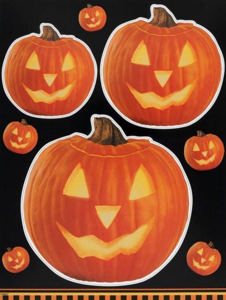 Pumpkin Glow Window Clings