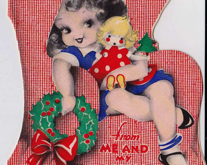 Rare Vintage 1930's Christmas Card