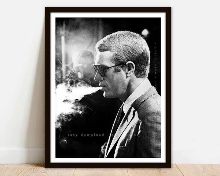 Steve McQueen Sunglasses Smoking