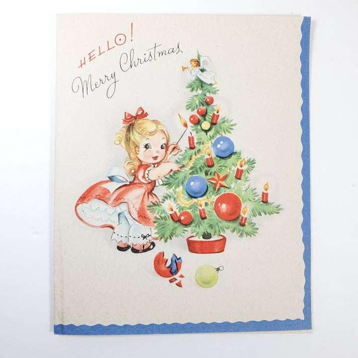 Vintage Christmas Card 1940s