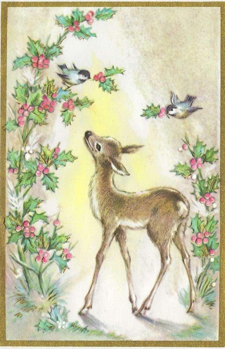 Vintage Embossed Christmas Card