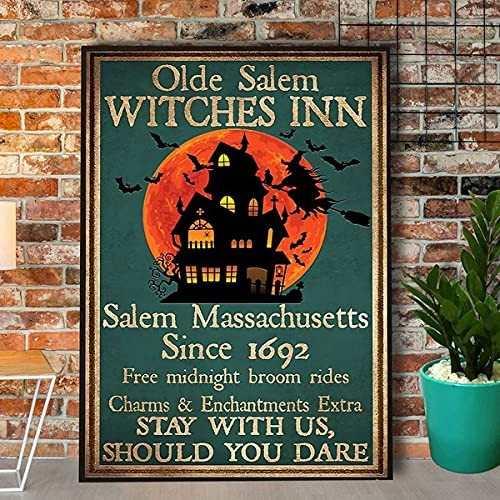 Witch Halloween Logo Decoration